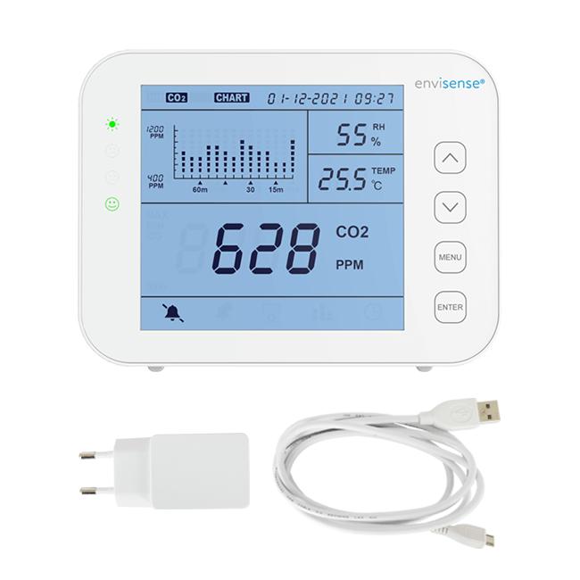 EnviSense CO2-Messgerät mit Kabel und Stecker